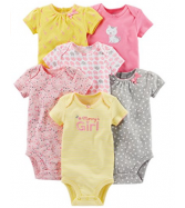 Simple Joys by Carter's Baby Girls' 6-Pack Short-Sleev