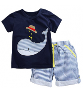 Fiream Little Boys' Cotton Clothing Short Sets
