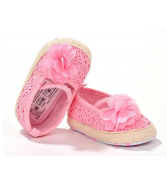Infant Girls' Shoes Floral Net Yarn Ballerina Shoes