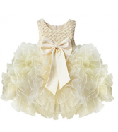 TiaoBug Baby Girls Flower Wedding Pageant Princess Bowknot Commu