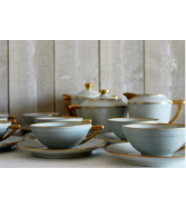 Limoges tea set. For 14. French vintage. Limoges porcelain.