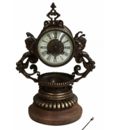 19th Century Bronze & Brass Mantel Clock