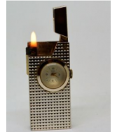 Old Vintage Antique Swiss Made 'RIVO' Petrol Lighter w