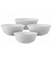 Pfaltzgraff Soup Bowls, Set of 4 Antique Tea Rose