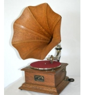Antique Victor I Phonograph Gramophone Wood Horn Talking Machine