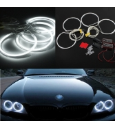 AUDEW Angel Eyes Set LED Standlicht Ringe Scheinwerfer 7000K Wei