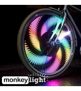 Monkey M232 Waterproof 32 Full Color LED Bike Wheel Light - Blac