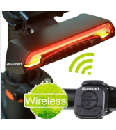 Wireless Remote Bicycle Bike Tail Laser Light USB Rechargeable L