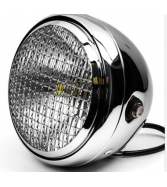 "12V Chrome Universal Motorcycle 7"" Bright LED Round Headlig"
