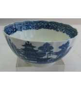 Fine 18th C. DR. WALL WORCESTER Porcelain Bowl Chinese Design c.