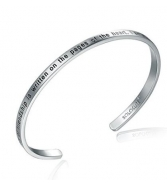 "Vòng tay SOLOCUTE Cuff Bangle Bracelet Engraved ""The Story"