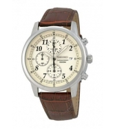Đồng hồ Seiko Men's Chronograph Beige Dial Brown