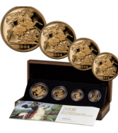 Set of 4 - 2008 Great Britain Sovereigns Proof Coins in OGP SKU4