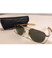 1960's AO AMERICAN OPTICAL Aviator Sunglasses 1/10 12K GF 5