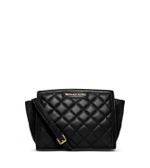 Selma Quilted Leather Medium Messenger - MK