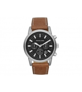 Michael Kors Scout Chronograph Black Dial Brown Leather Mens Wat