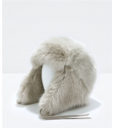 Zara - Fur hat with ears