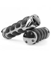 "1"" Chromed Black Motorcycle Bike Handlebar End Grips for Ha"