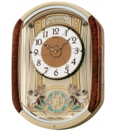 Seiko Wall Clock, Wood Melodies in Motion