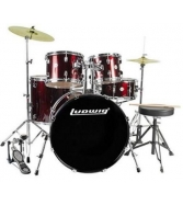 Ludwig Accent Drive 5-Pc Drum Set (LC1754) Wine Red Sparkle