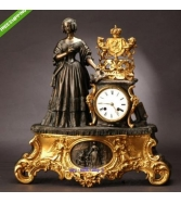 UNIQUE & PRETTY QUEEN OF MERCY A FRENCH FIRE-GILT BRONZE &am